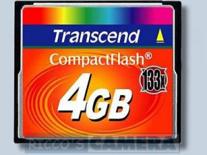Transcend 133x CompactFlash Card 4GB